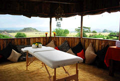 Massage atreatment and therapies at the Flamingo hill camp, Lake Nakuru